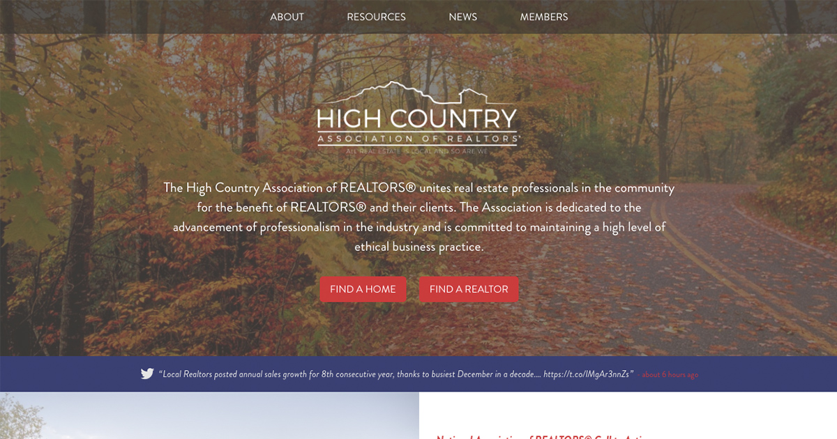 Login | High Country Association of REALTORS