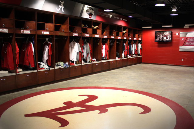 University of Alabama Baseball Stadium Locker Room