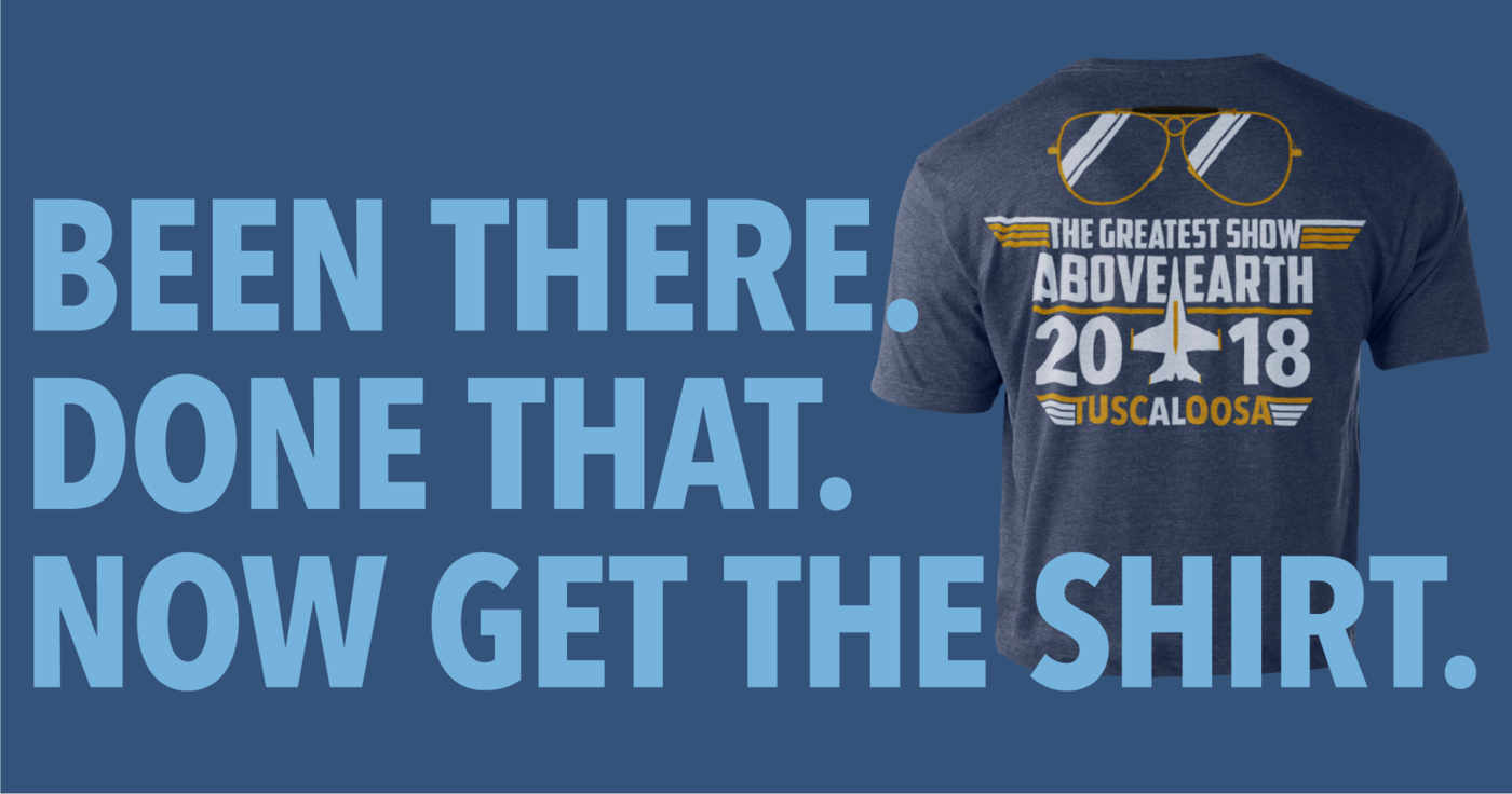 2018 Air Show T-shirts now on sale!