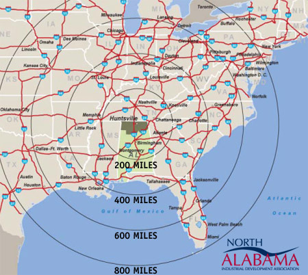 Trucking Radius Map