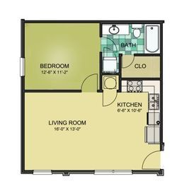 1 Bed/1 Bath - Large