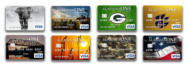 2018 Alabama One Credit Union Instant Issue Cards