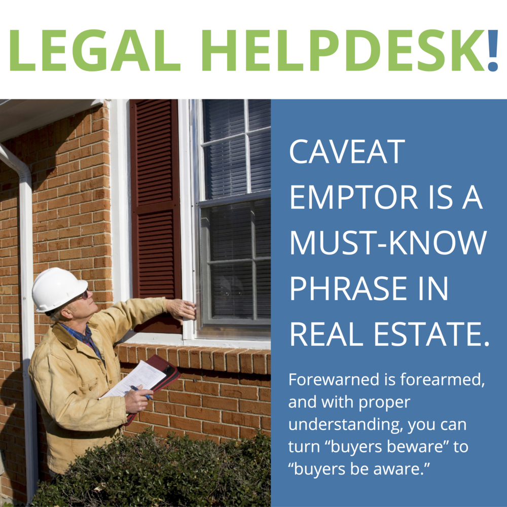 A Note From The Legal Helpdesk: Caveat Emptor for the Buyer's Agent