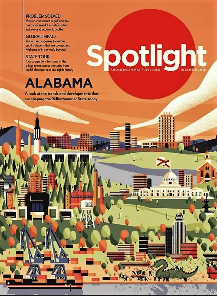 Alabama to be Featured in American Airlines Magazine