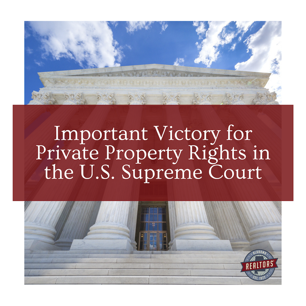 Important Victory for Private Property Rights in the U.S. Supreme Court