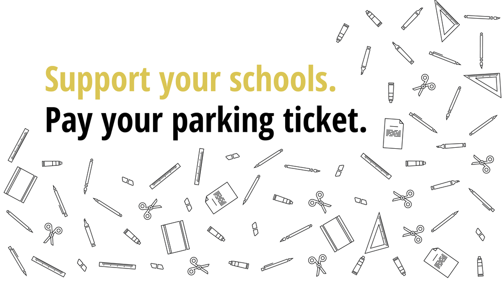 Image result for school supplies + parking tickets