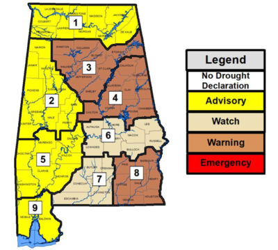 Drought Continues in Alabama – Burn Restrictions in Effect