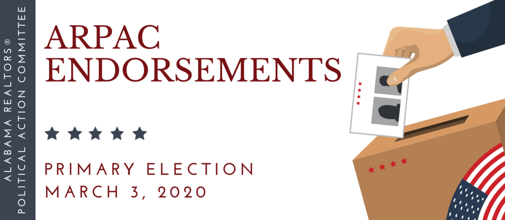 Alabama REALTORS® Announces Endorsements for  2020 Primary Election