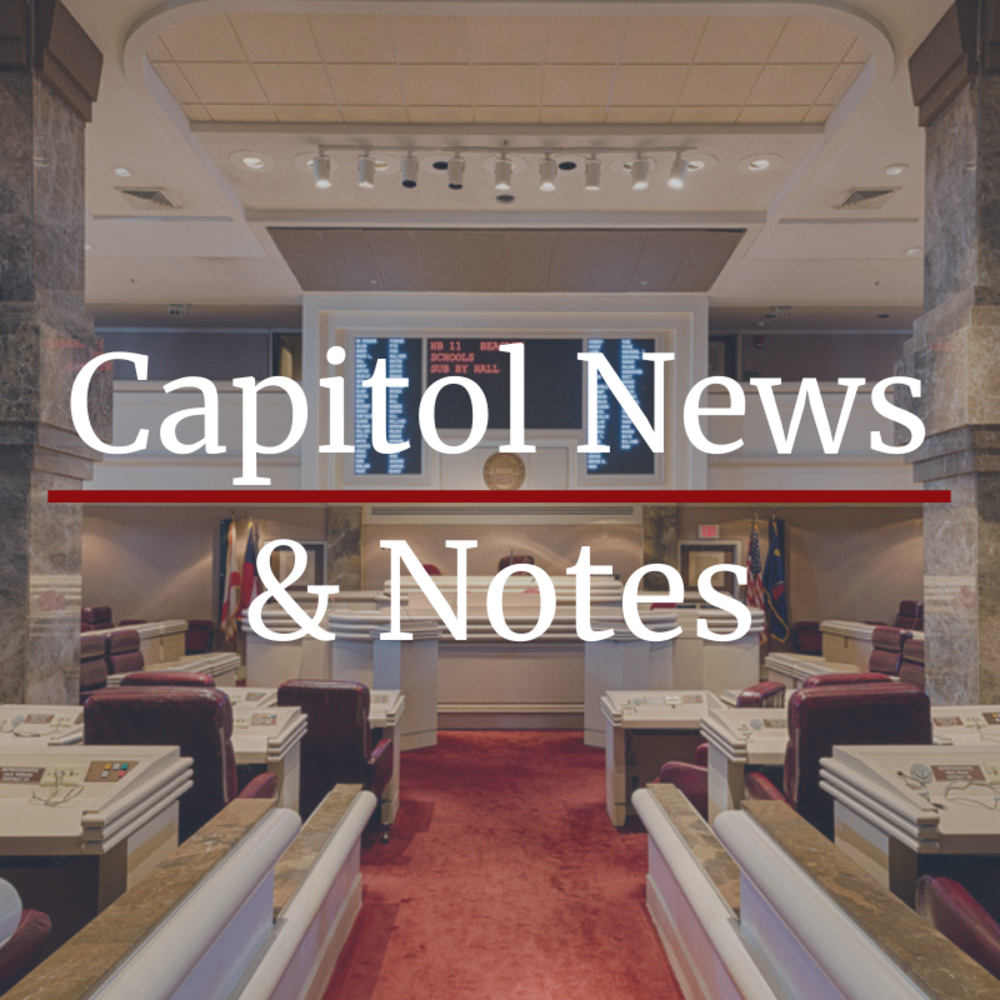 Capitol News and Notes: Week Six