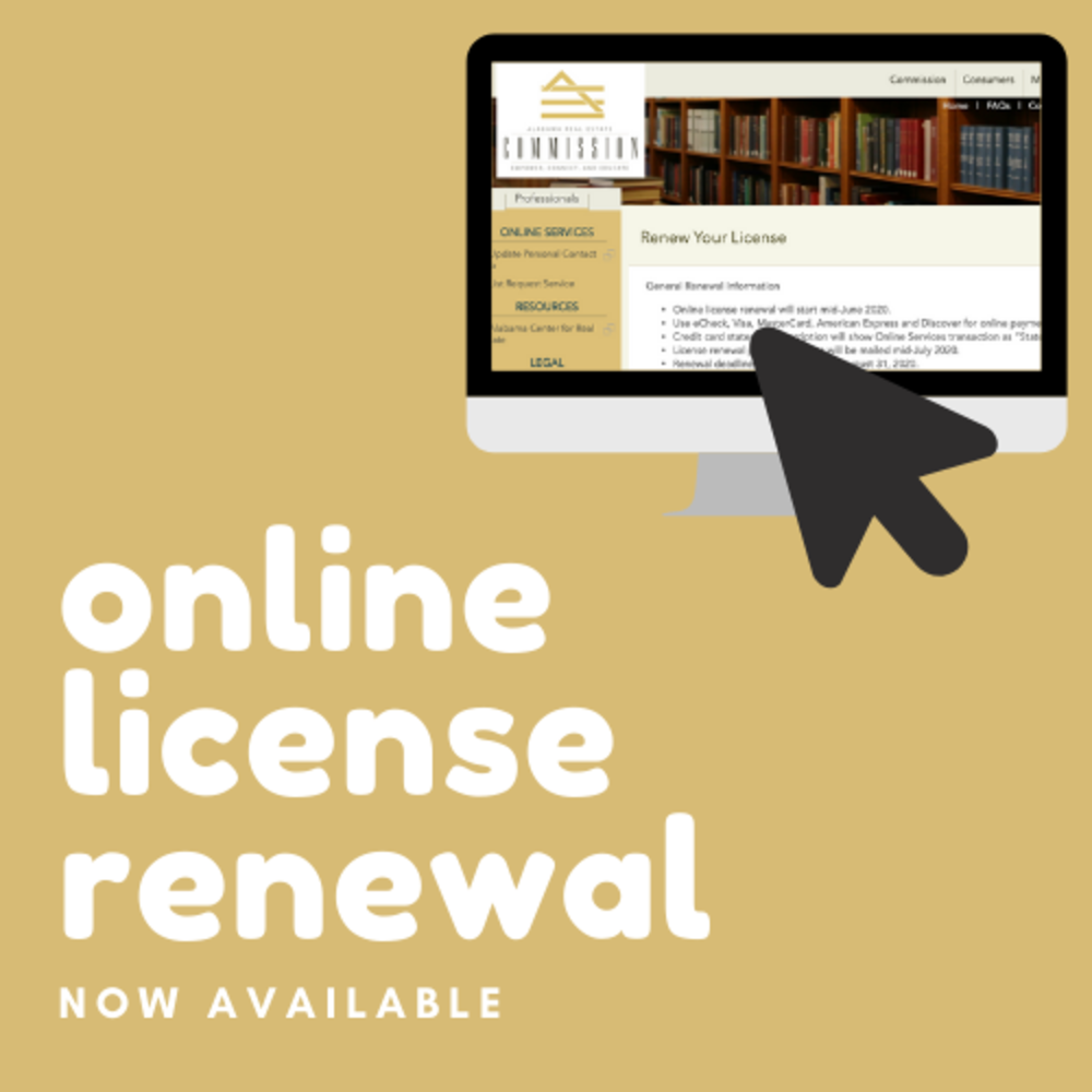 Online Real Estate License Renewals Available