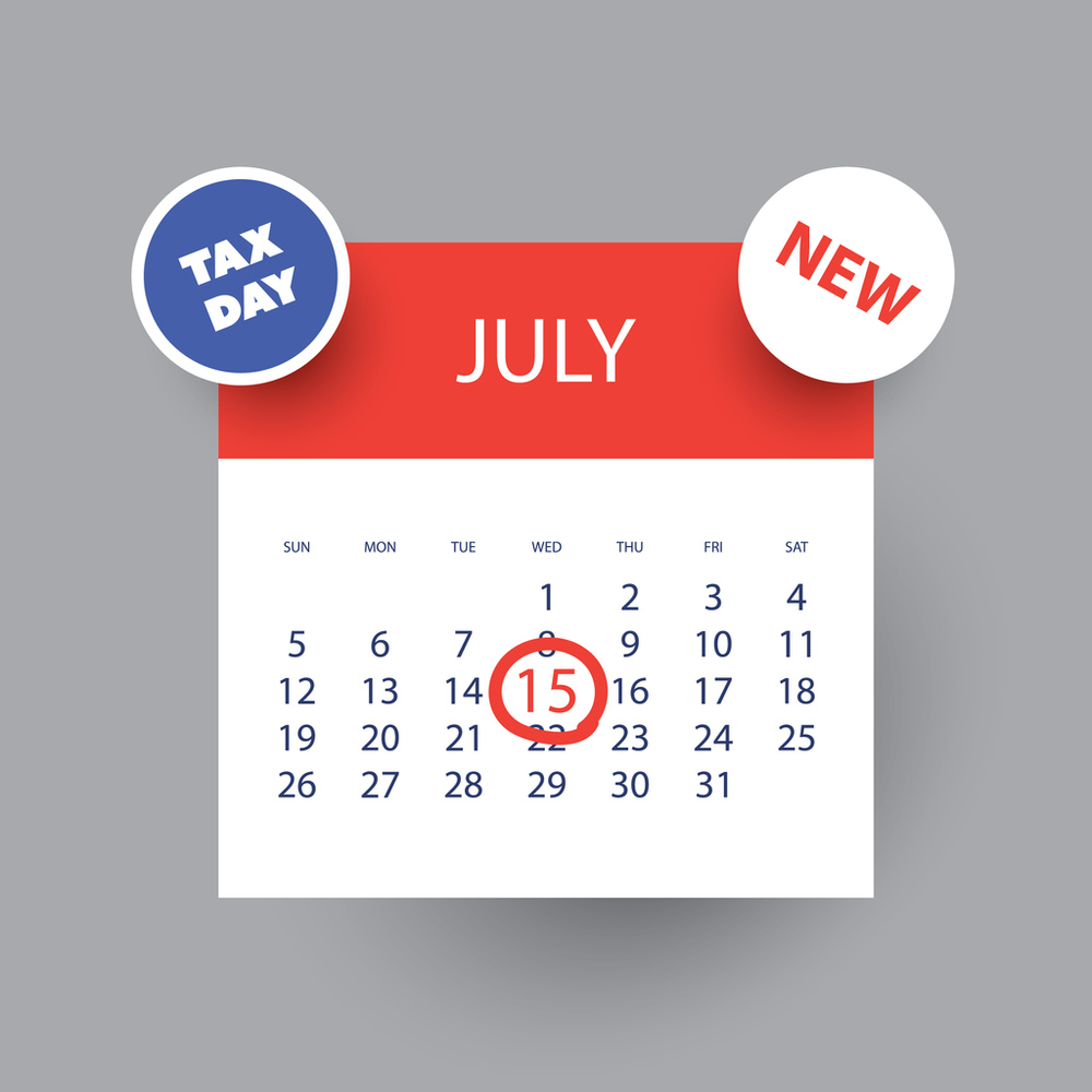 Reminder – Tax Filing Deadline July 15