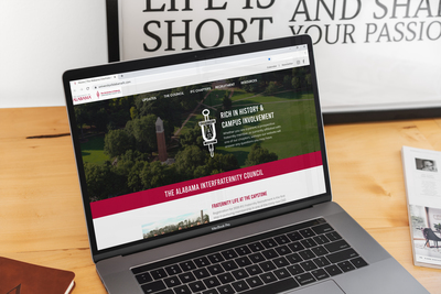THE NINE LAUNCHES NEW WEBSITE FOR THE UNIVERSITY OF ALABAMA INTERFRATERNITY COUNCIL