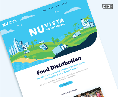 THE NINE LAUNCHES NEW WEBSITE FOR NU VISTA FOOD GROUP